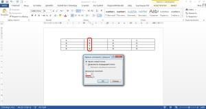 Изменение порядка нумерации ячеек в таблице