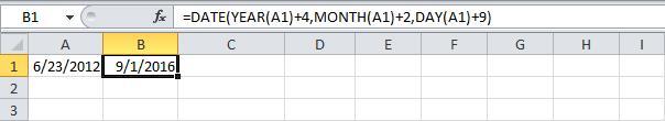 Дата и время в Excel