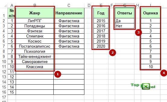 Baza dannih 3 Как создать базу данных в Excel?