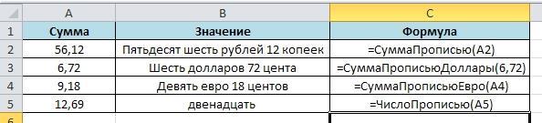 Summa propisiu 6 Как создается сумма прописью в Excel?