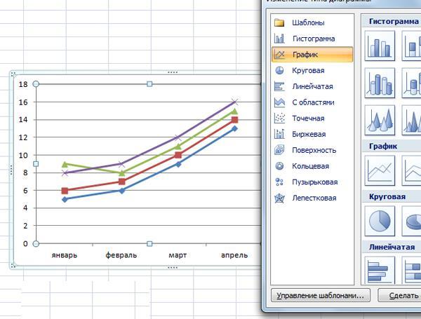 графики в Excel