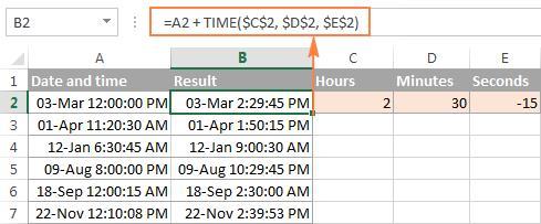 Сложение и вычитание дат в Excel
