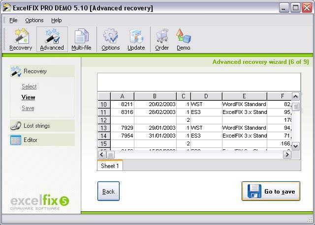 Использование программы ExcelFIX