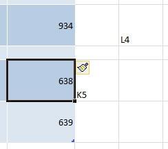 Вставка строки на лист, относительно таблицы Excel