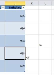 Добавление значений за пределами таблицы Excel