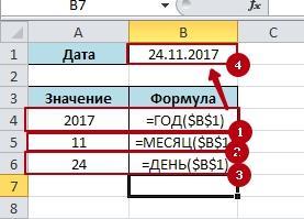 Function YEAR MOUNS DAY 5 Функции времени ГОД, МЕСЯЦ, ДЕНЬ в Excel