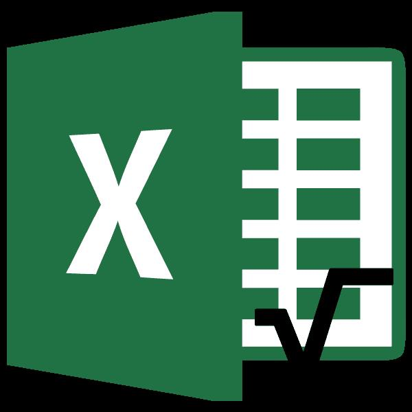 Извлечение корня в Microsoft Excel