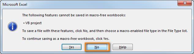 Вставляем и запускаем макрос в Excel
