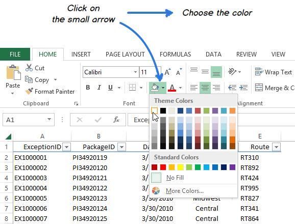 Скрыть или отобразить сетку в Excel