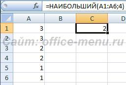 Различные ранги у равных элементов
