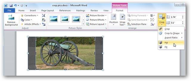 Обрезать картинки в Word