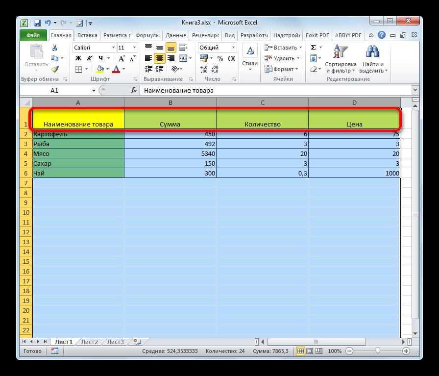 Границы ячеек расшиины в Microsoft Excel