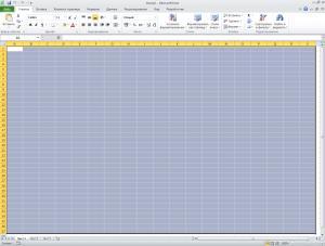 рабочий лист Excel