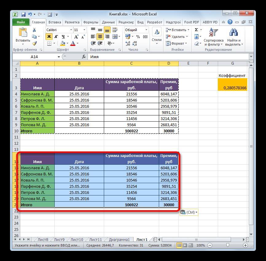 Вставка с сохранением форматирования в Microsoft Excel