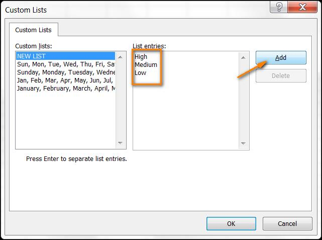 Сортировка в Excel