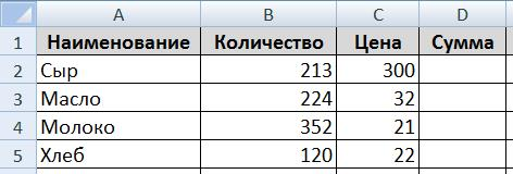 Таблицы Excel