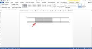 Выделение двух столбцов в таблице Word
