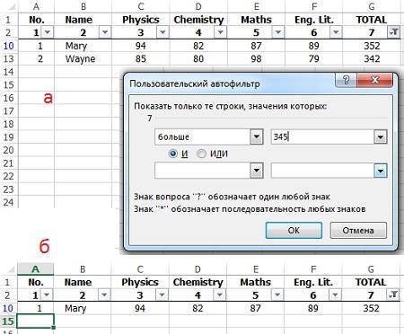 Рис. 4. Добавьте пробел, чтобы фильтр работал корректно в отношении последней записи диапазона