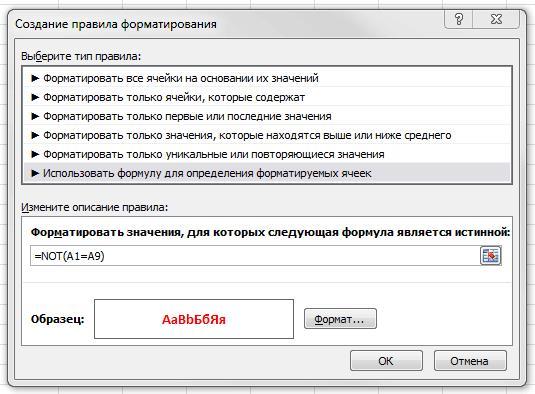 Рис. 6.2. Диалоговое окно условного форматирования