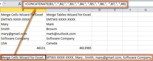 Объединяем строки в Excel