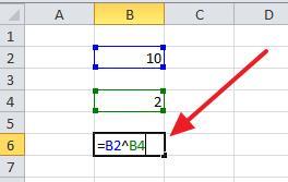формула для возведения в степень