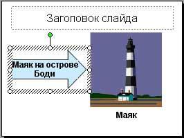 Добавление текста в автофигуру на слайде PowerPoint