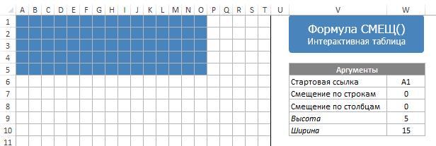 Интерактивная таблица