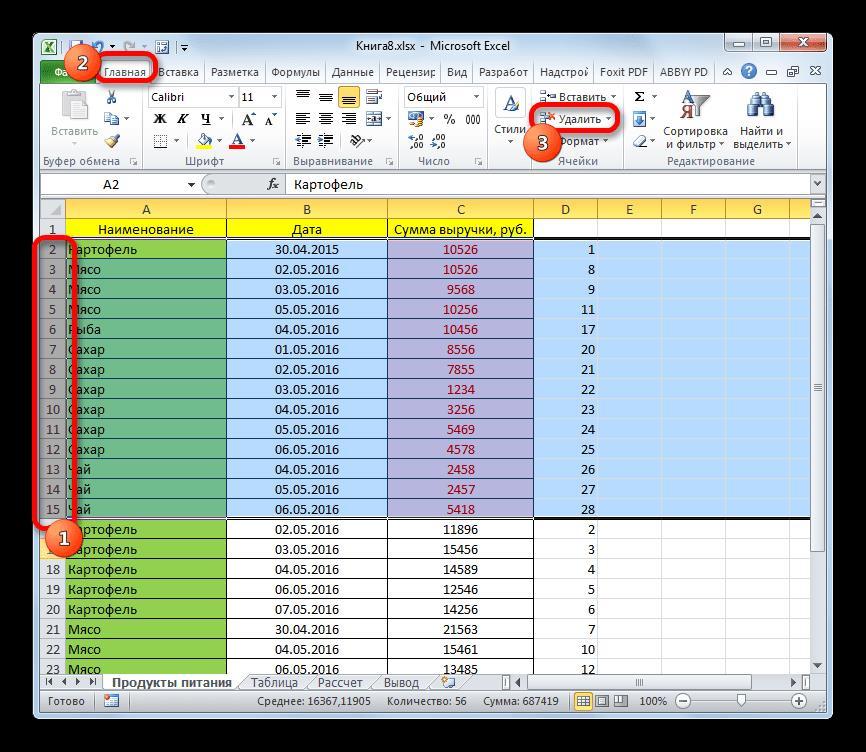 Удаление строк по условному форматированию в Microsoft Excel