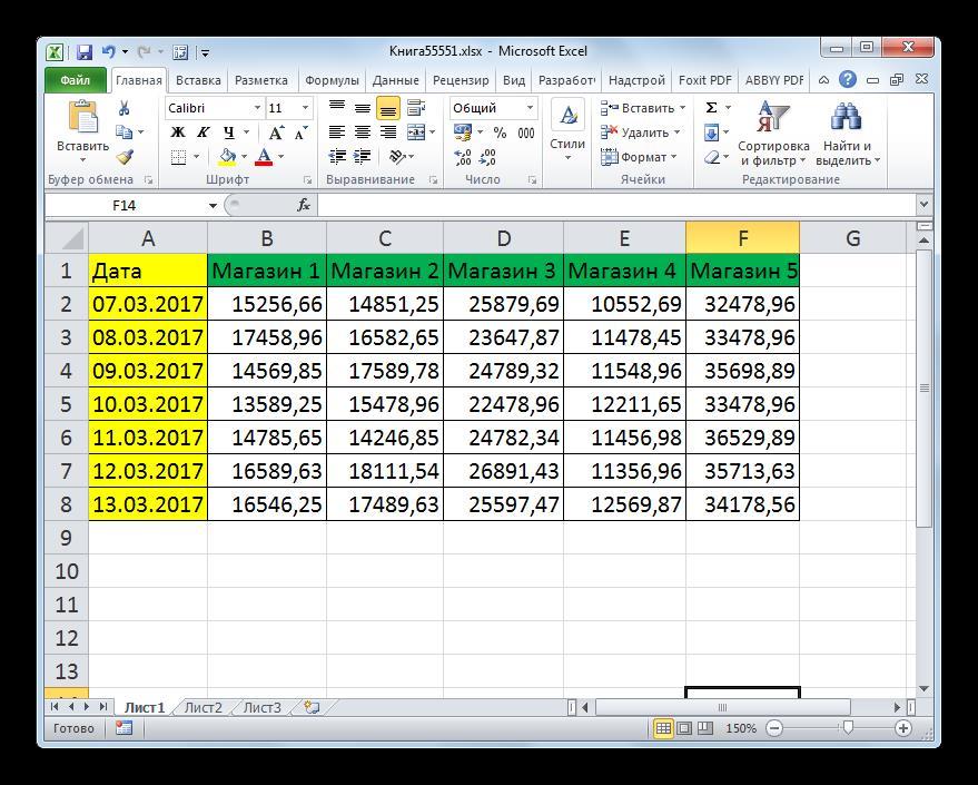Маштаб изменен на мониторе в Microsoft Excel