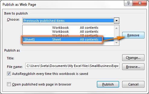 Преобразовываем файл Excel в HTML