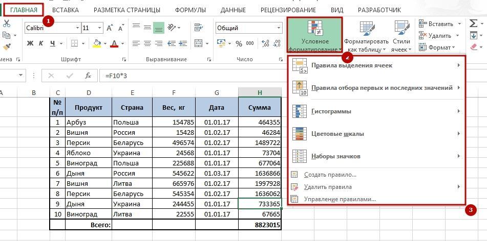 Uslovnii fofmat 2 Как применить условное форматирование в Excel