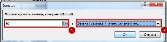 Uslovnii fofmat 4 Как применить условное форматирование в Excel
