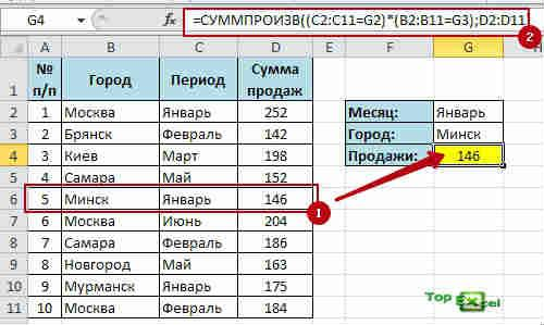 Function VPR s uslovismi 2 4 способа поиска данных в таблице Excel