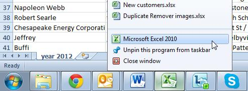 Файлы Excel в отдельных окнах