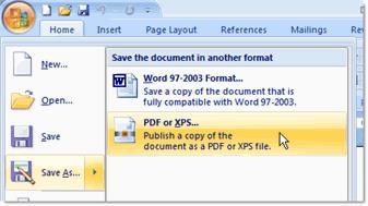 Word to PDF в Office2007