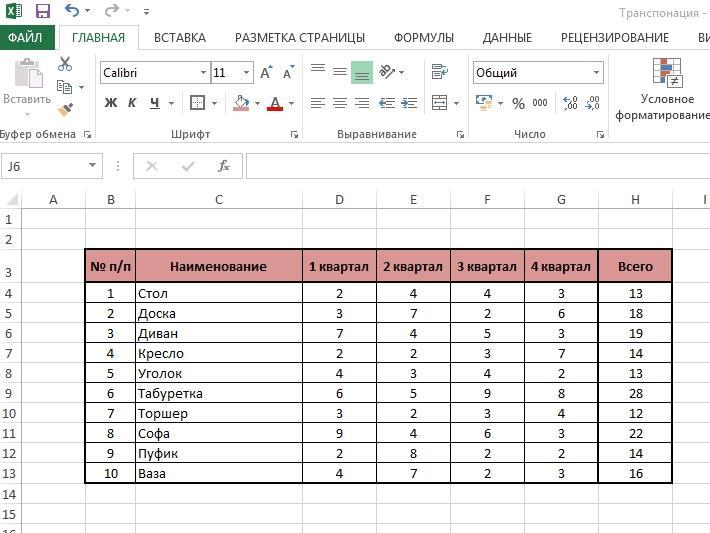Trasponirovat 1sp 1 3 способа транспонировать в Excel данные