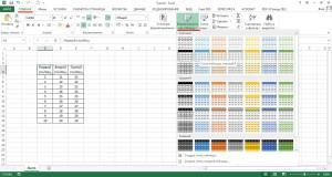 Применяем форматирование к таблице