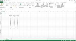 Внесение данных в таблицу Excel