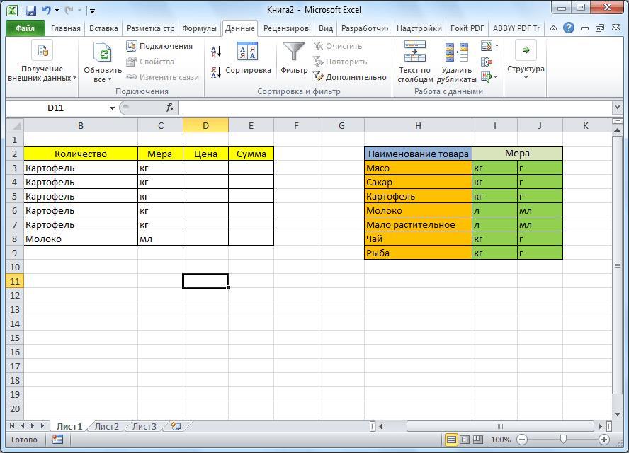 Таблица создана в Microsoft Excel