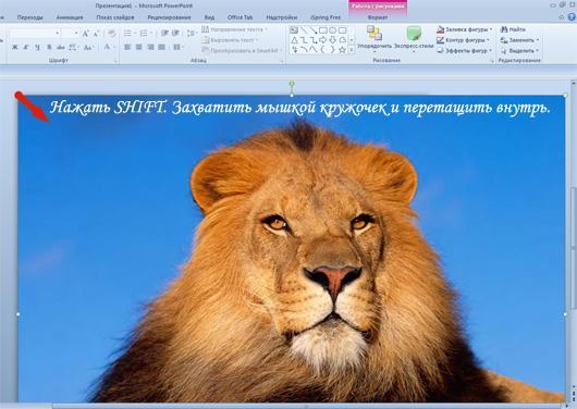 Уменьшение размера изображения в PowerPoint