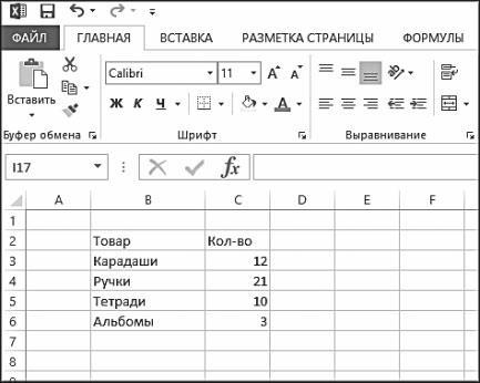 Рис. 5.7. Пример таблицы