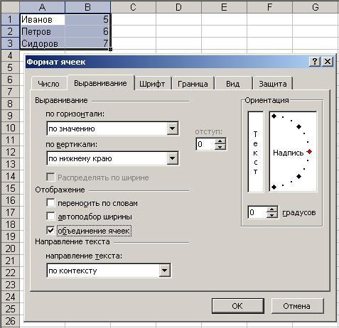Расширенное форматирование таблицы