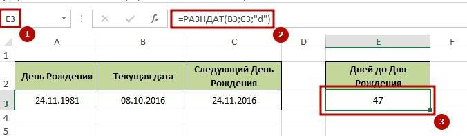 s4itaem dni 4 Как посчитать количество дней в Excel