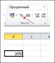 Формат процентов
