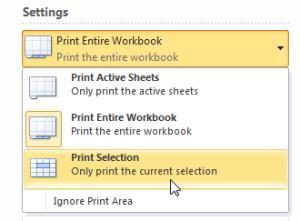 Хитрости при печати в Excel