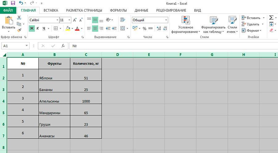 Если протащит границу столбца или строки мышью, когда выделена вся таблица - изменения применяться для всех элементов ms excel