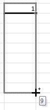 Протаскиваем курсор Excel