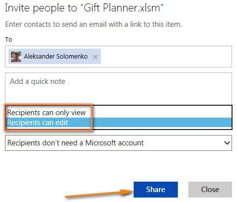 Листы Excel в интернете