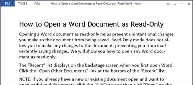 Режим только чтение в Word