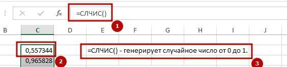 gen sluch chissel 2 Создаем генератор случайных чисел в Excel